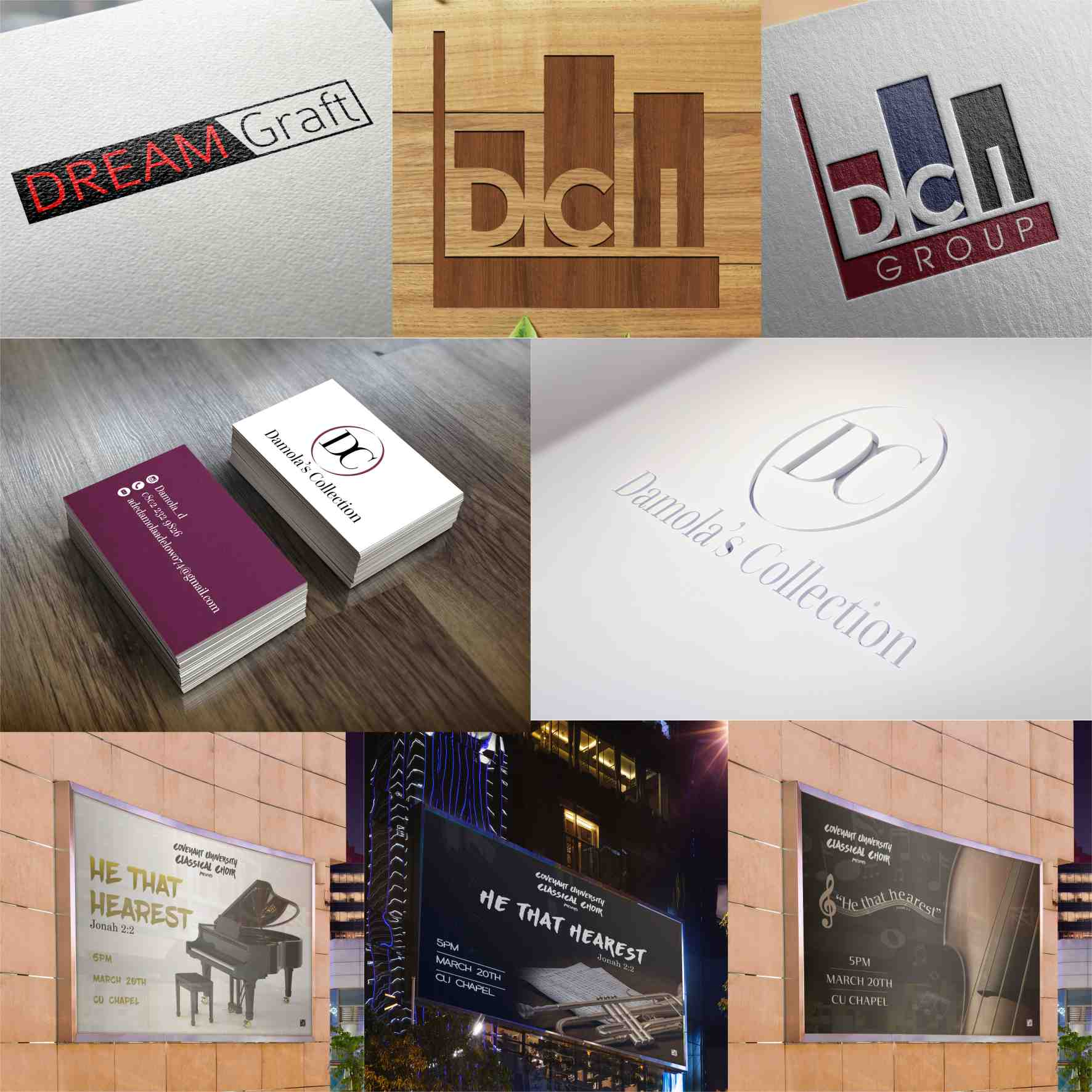 3 graphics design branding by David Rotimi