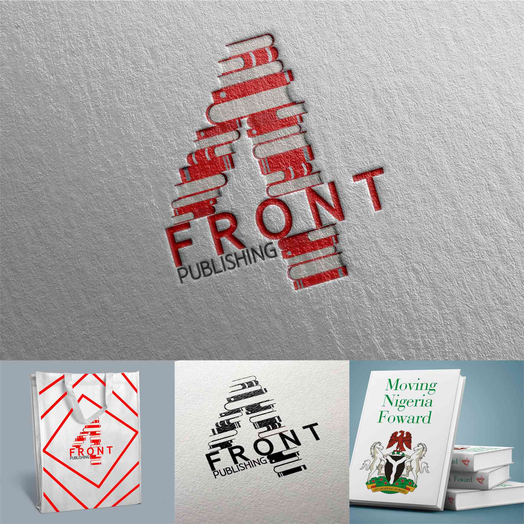 4 Front Publishing graphics design branding by David Rotimi