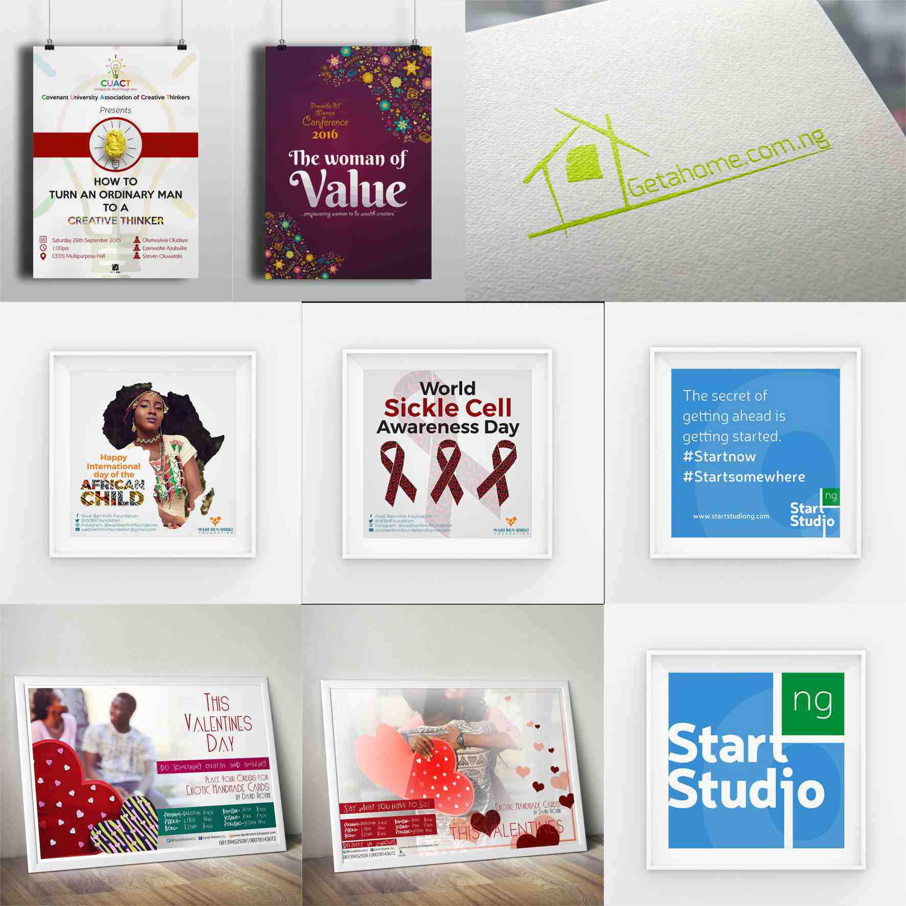 4 graphics design branding by David Rotimi