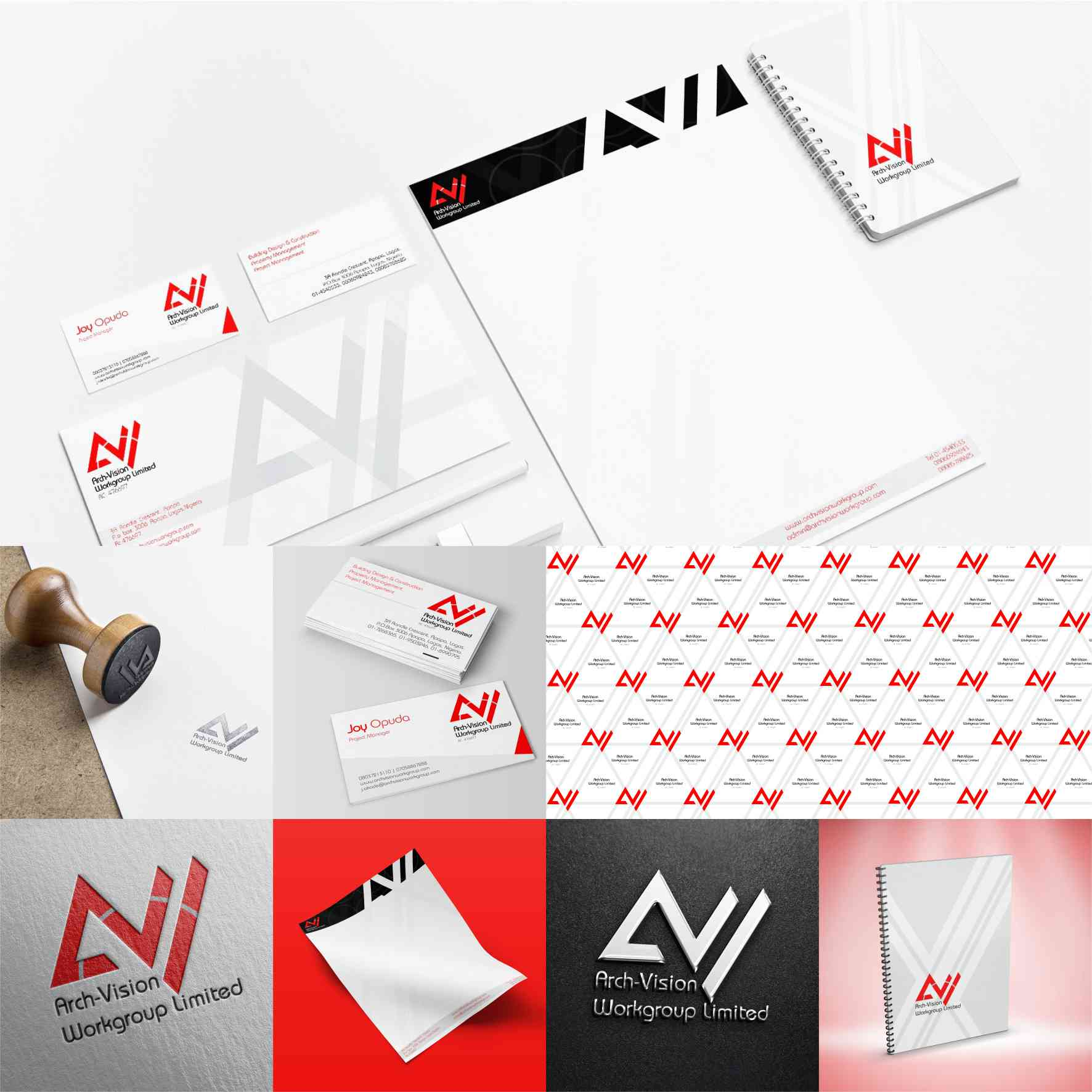 Arch-Vision Workgroup graphics design branding by David Rotimi