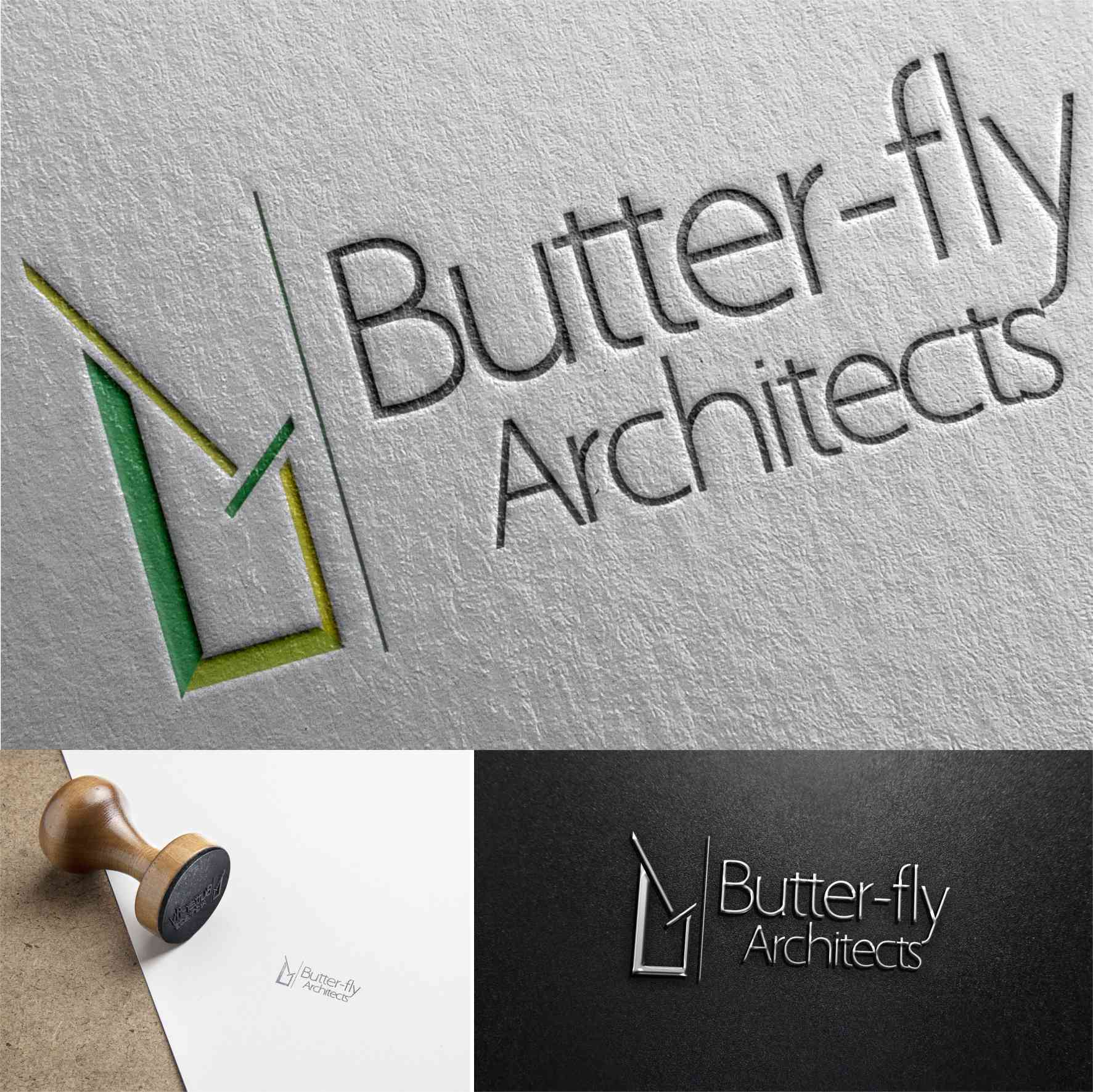 Butter-Fly Architects graphics design branding by David Rotimi