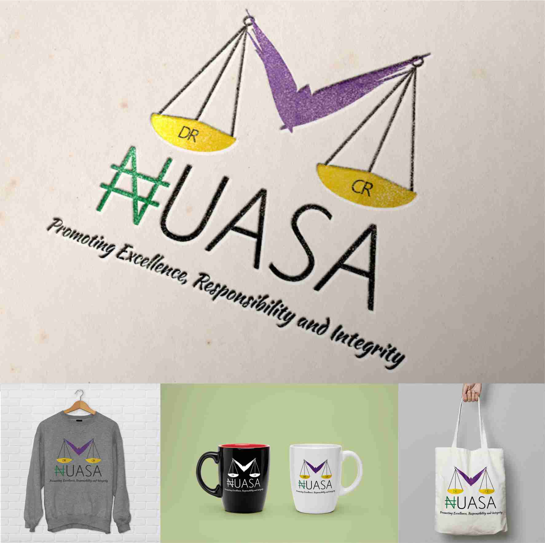 NUASA (Nigerian Universities Accounting Students Association) graphics design branding by David Rotimi
